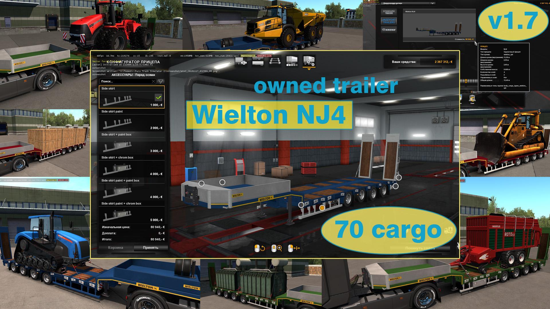 OWNABLE OVERWEIGHT TRAILER WIELTON NJ4 V1 7 1 34 X | ETS2