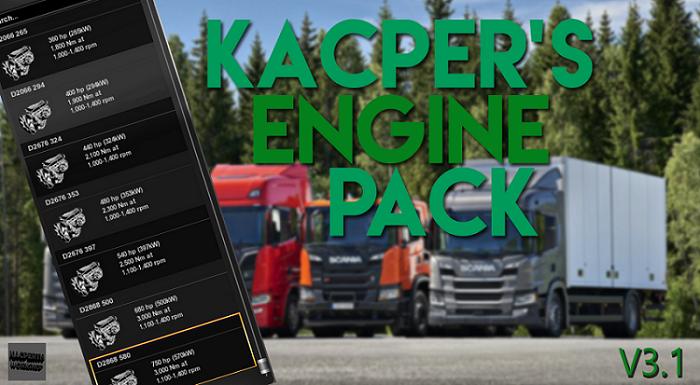 Engines Mega Package by Kacper - V3 1   ETS2 mods   Euro truck