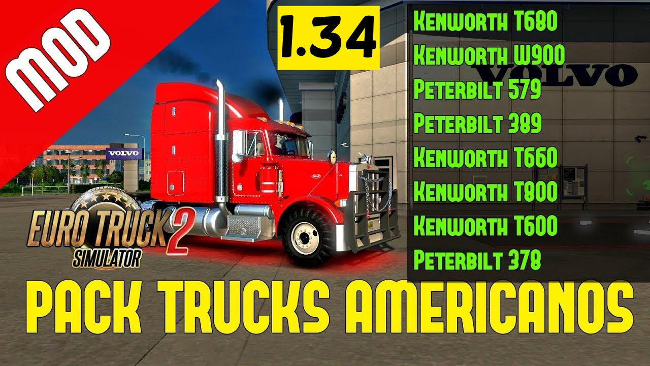 U S  Trucks for ETS2 1 34 x | ETS2 mods | Euro truck