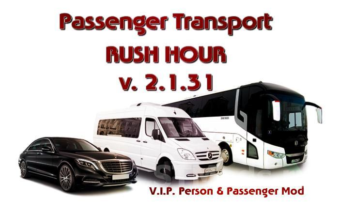 PASSENGER TRANSPORT! RUSH HOUR! V2 1 31 | ETS2 mods | Euro