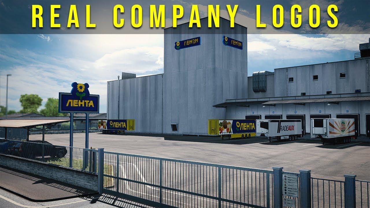 Real Company Logos of Baltic Region 1.35.x | ETS2 mods | Euro truck simulator 2 mods - ETS2MODS.LT