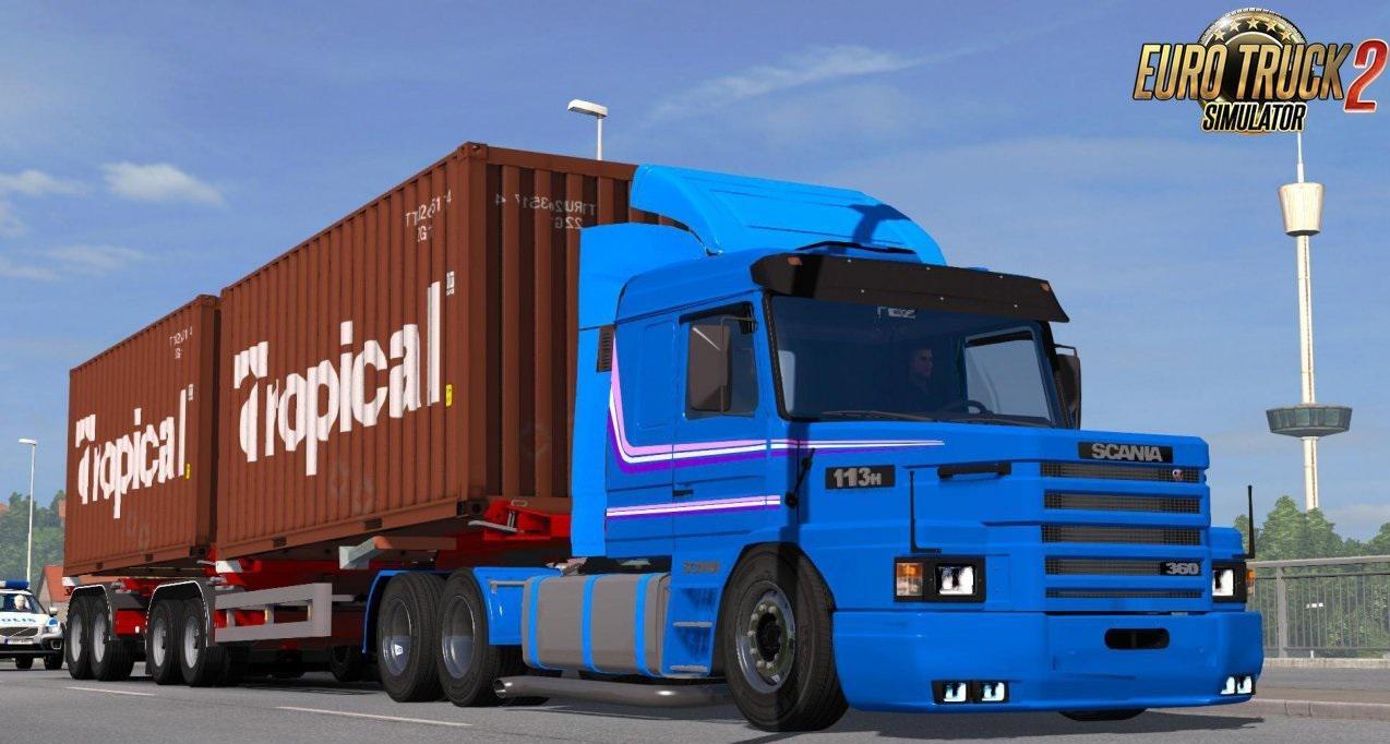 Scania 113H + Interior v3 0 by SG (1 35 x)   ETS2 mods