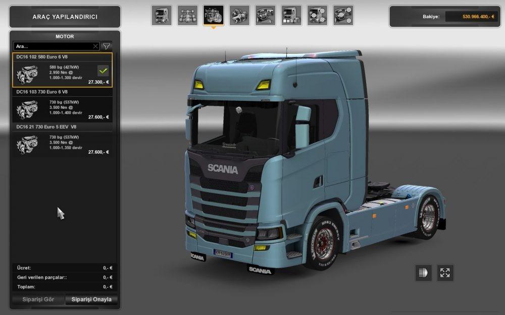 Scania Engines (1 28 x)   ETS2 mods   Euro truck simulator 2 mods