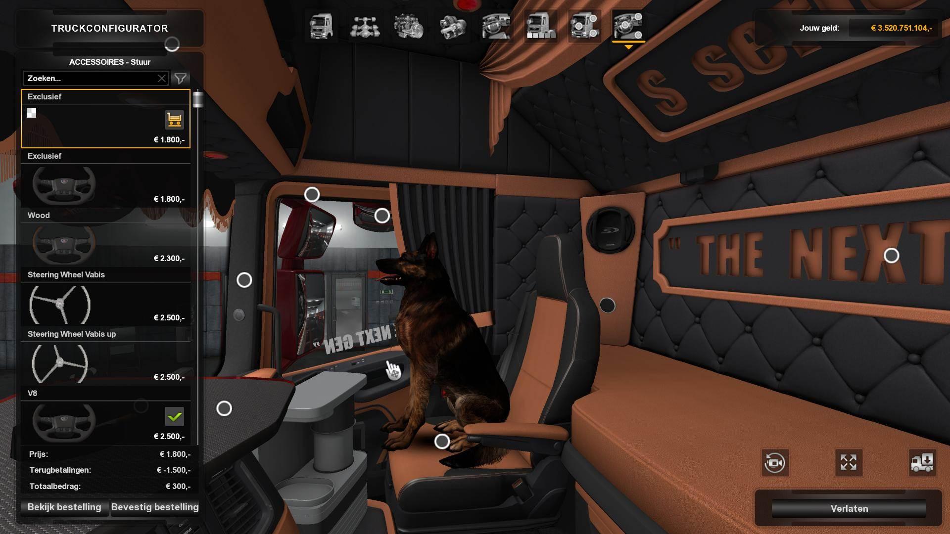 Scania S Nextgen Holland Interior 1 32 Ets2 Mods Euro