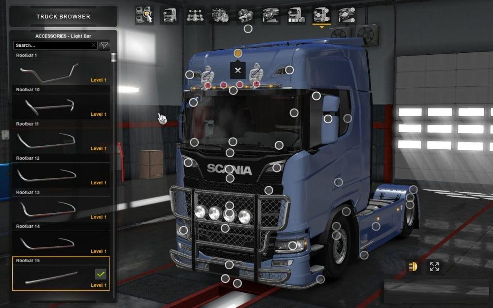 scania s r new tuning accessories scs ets2. Black Bedroom Furniture Sets. Home Design Ideas