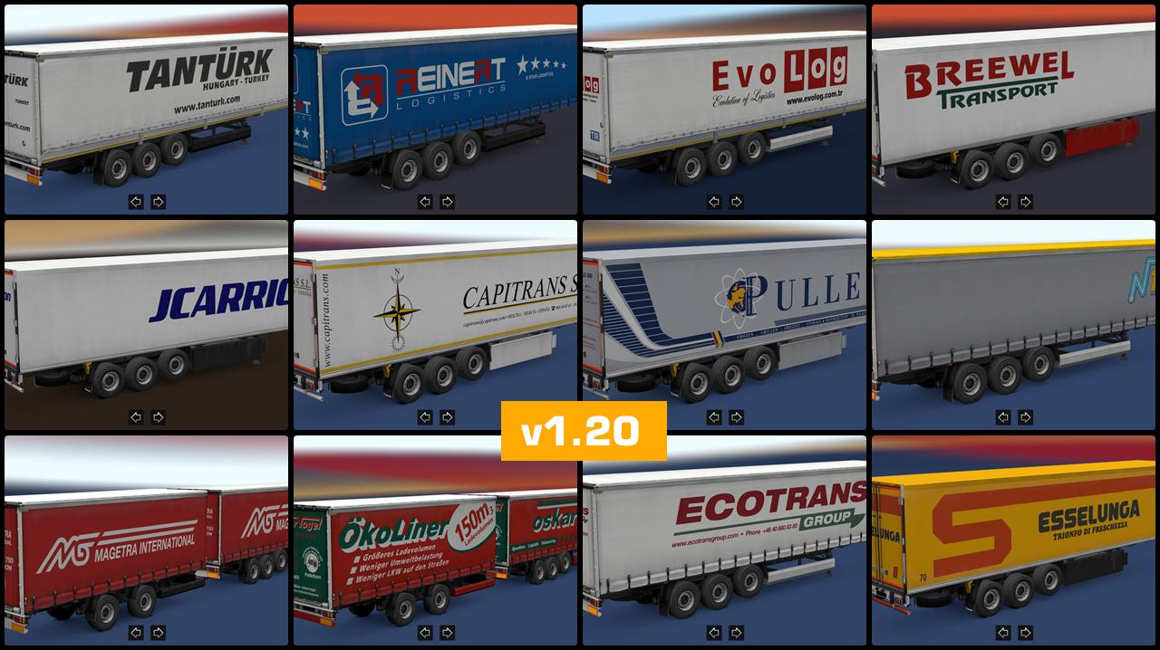 trailer pack v1 20 by sisl for ets2 1 30 x ets2 mods