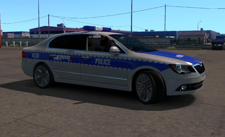 Skoda Superb Police Siren 1 34 X Ets2 Mods Euro Truck Simulator 2 Mods Ets2mods Lt