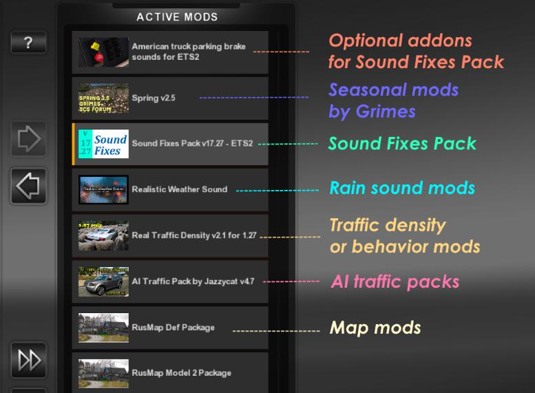 Sound Fixes Pack v19 9 1 35 x | ETS2 mods | Euro truck