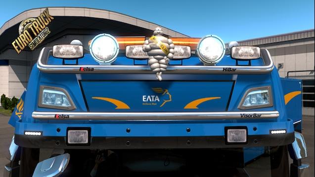 50k addons Light Box Sign ELTA Skin | ETS2 mods | Euro truck