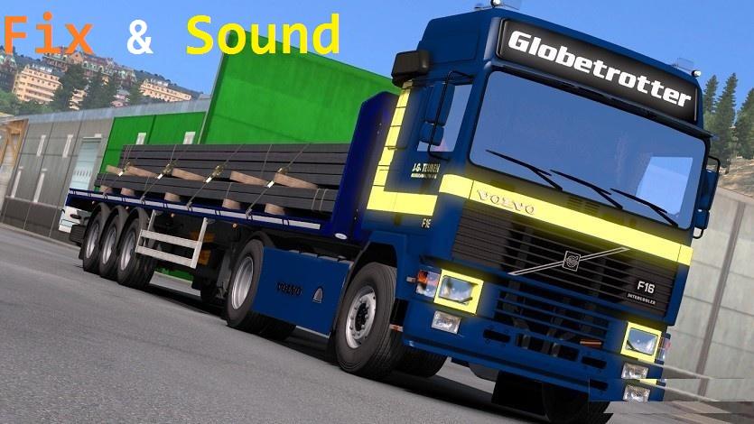 Fix & Sound Volvo F12 – F16 | ETS2 mods | Euro truck