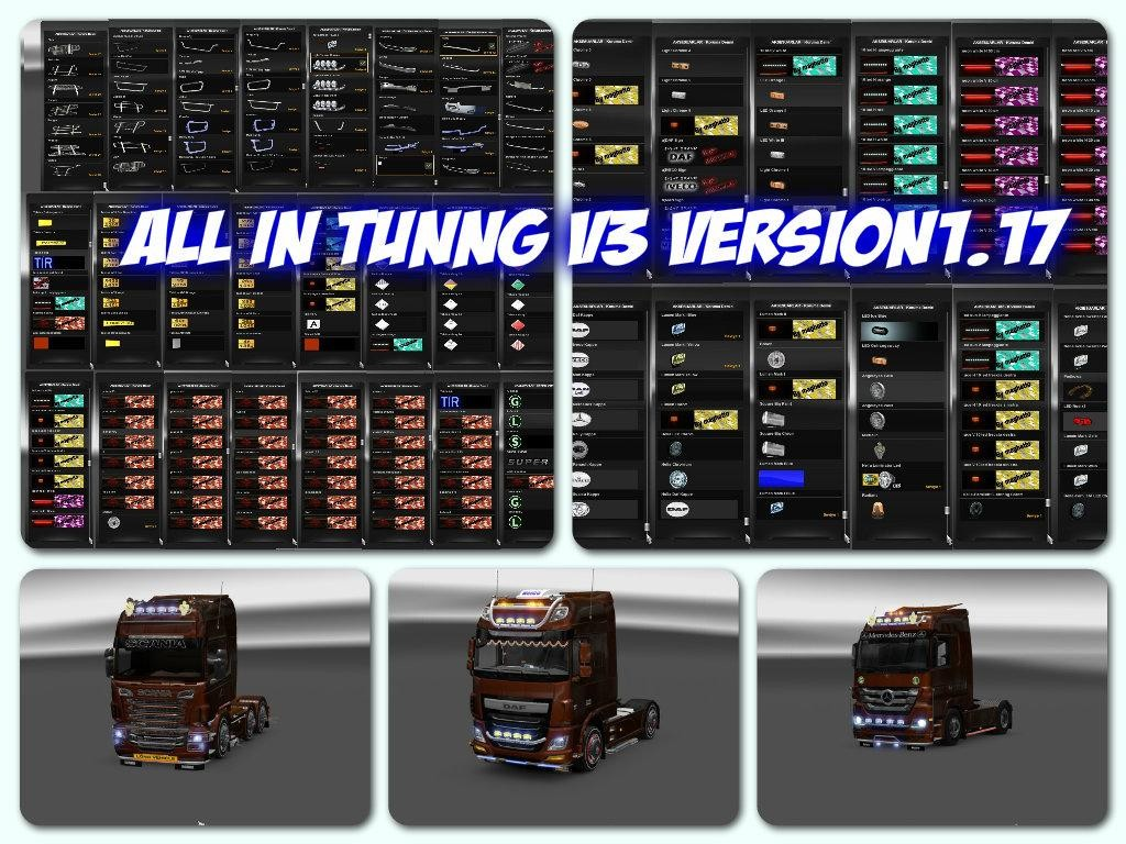 All in Tuning v3 1.17 | ETS2 mods | Euro truck simulator 2 ...