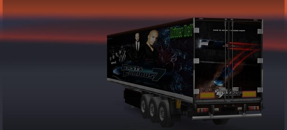 Fast and Furious 7 Trailer Skin | ETS2 mods | Euro truck ...