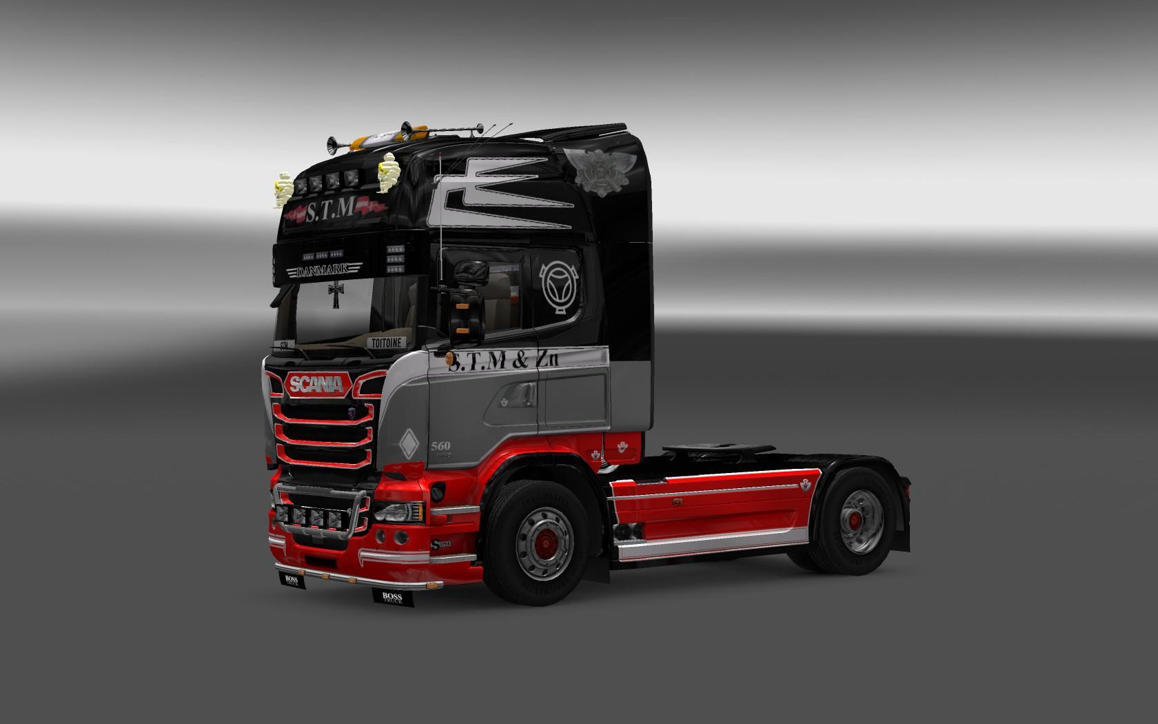 Scania Streamline S.T.M Skin re-edit | ETS2 mods | Euro truck ...