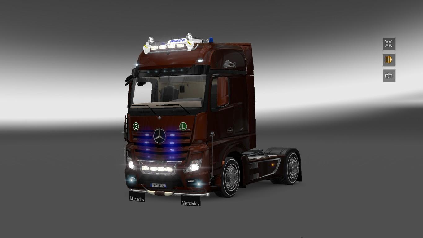 mercedes actros 2014 tuning ets2 mods euro truck. Black Bedroom Furniture Sets. Home Design Ideas