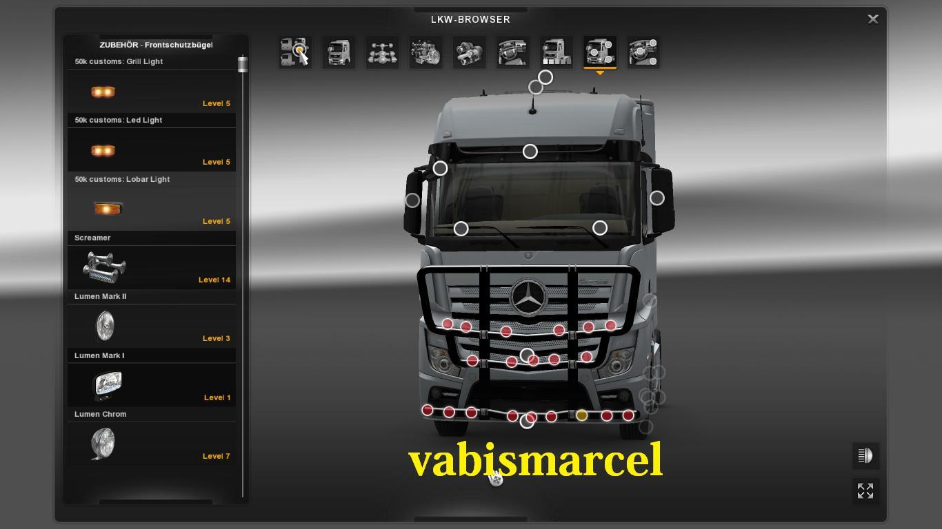 Mercedes Actros Mp4 Bullbar Ets2 Mods Euro Truck