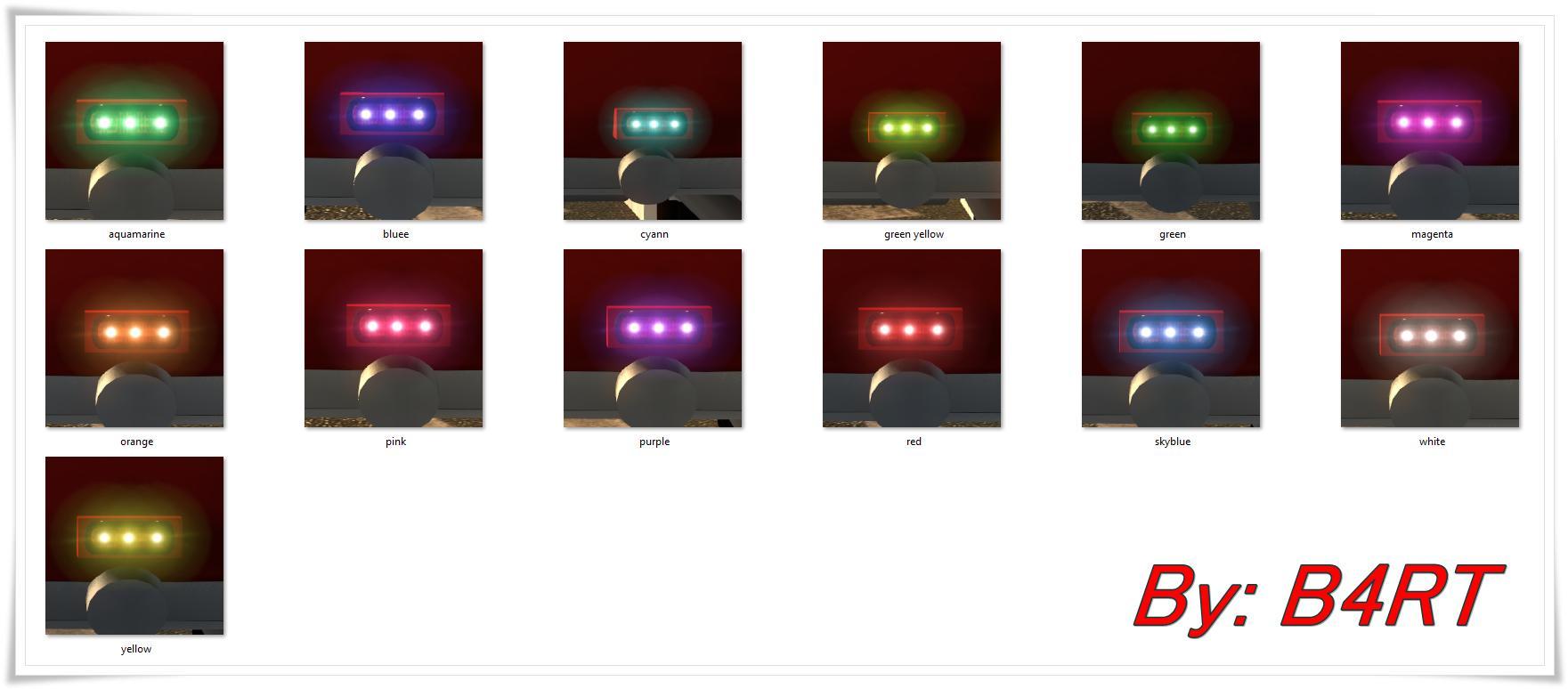 NEW LED COLORS V1 0 FOR MODDERS | ETS2 mods | Euro truck