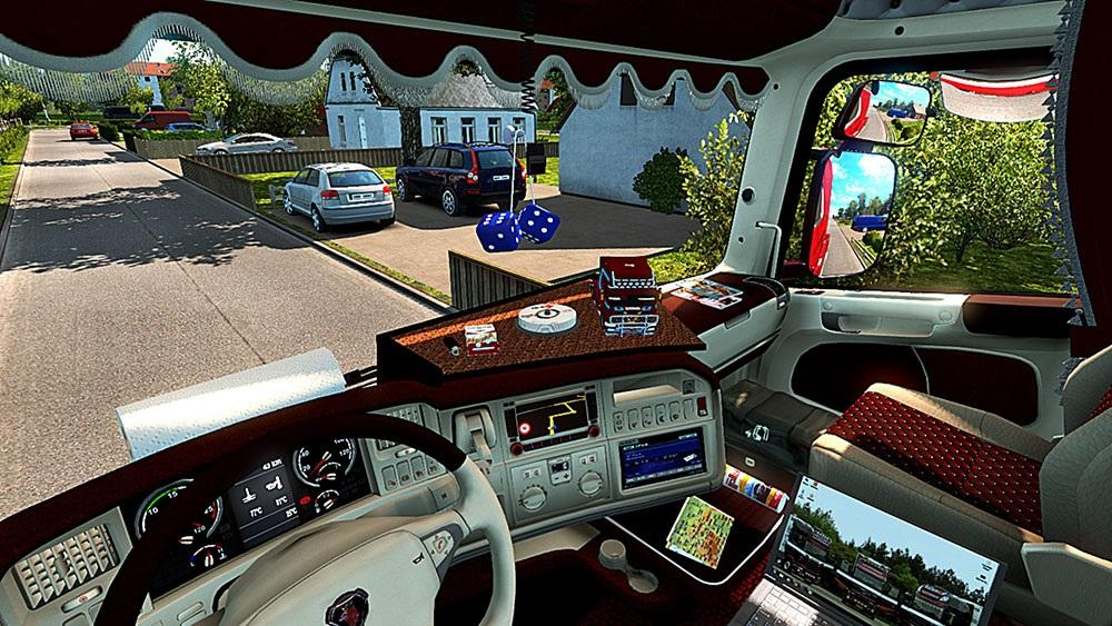 Euro Truck Simulator 2 Scania Interior Accessories Mod idea
