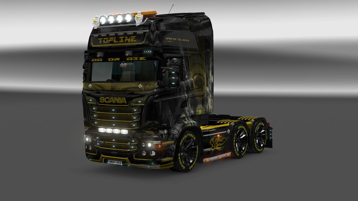scania rjl king of the road skin ets 2 mods   euro truck