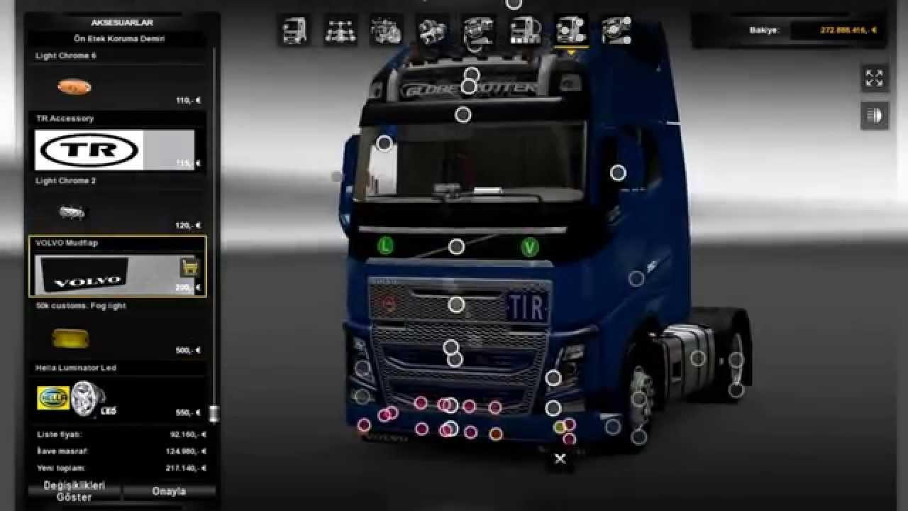 New Volvo Fh16 Accessories Interior Ets2 Mods Euro