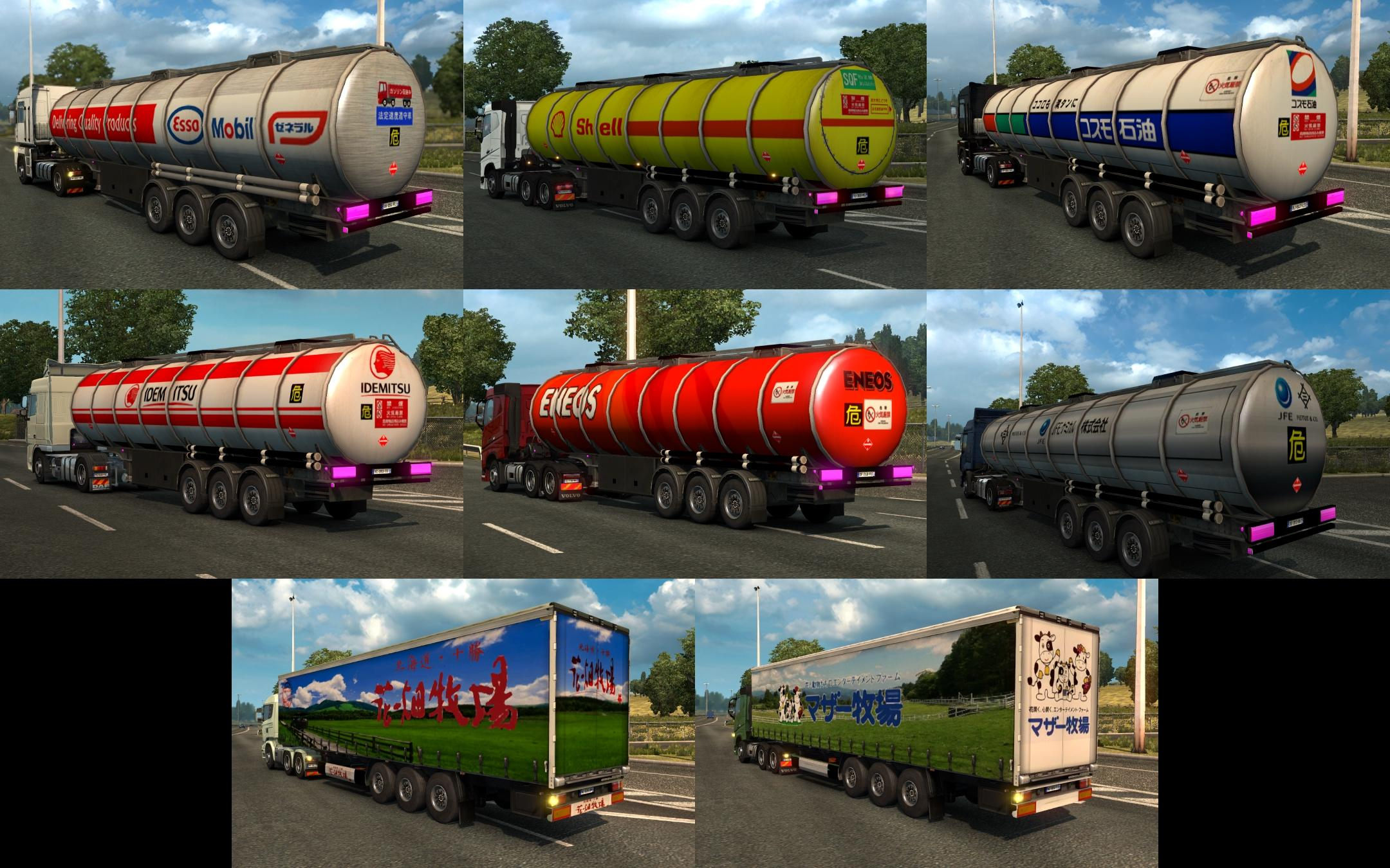 japan trailers traffic pack v2 0 ets 2 mods   euro truck