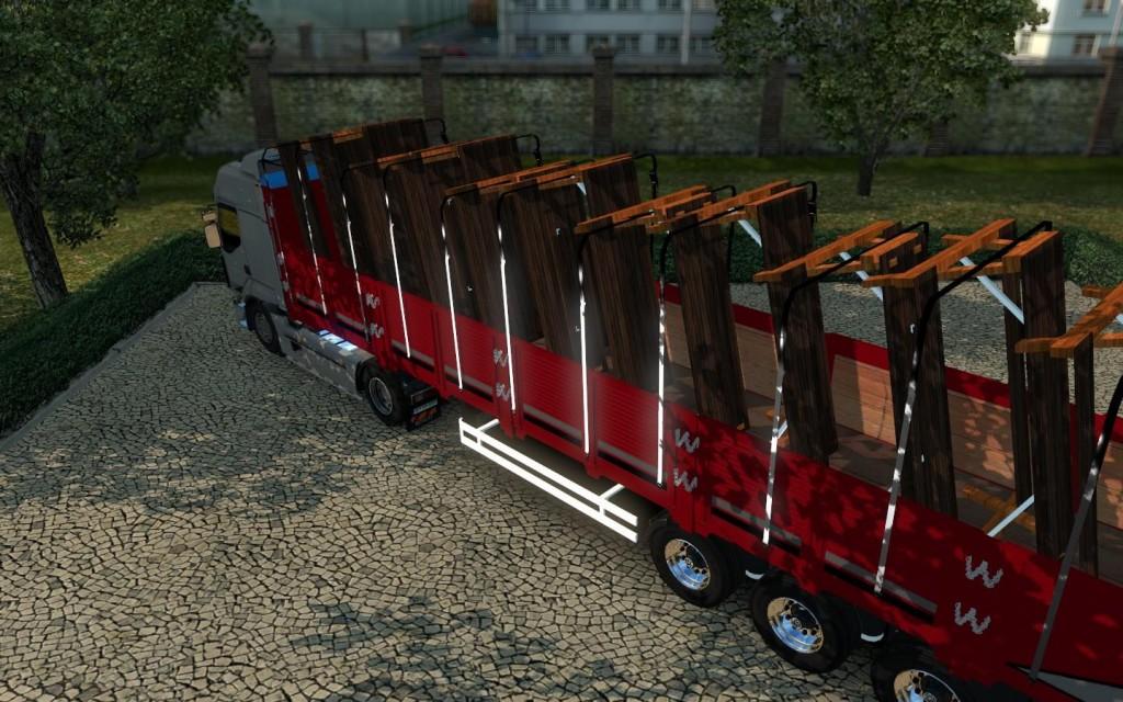Picnic Table Trailer X ETS Mods Euro Truck Simulator - Picnic table trailer