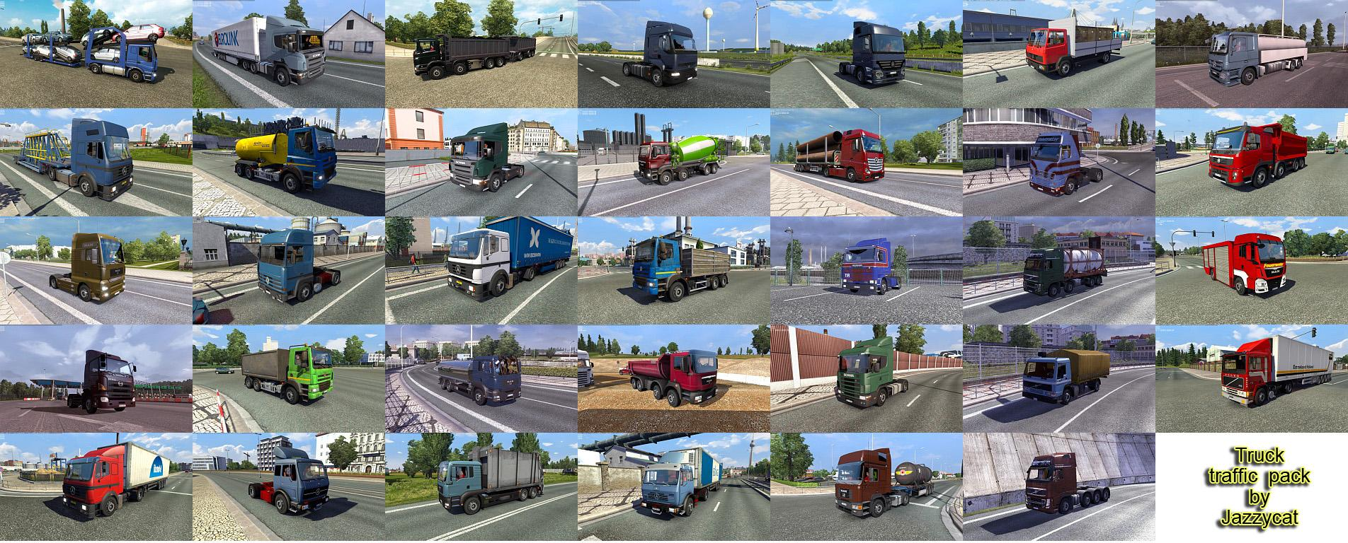 truck traffic pack by jazzycat v2 0 ets 2 mods   euro