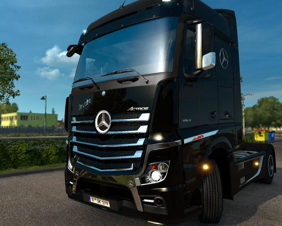 Chrome Kit Brutale For Mercedes Actros Mp4 V2 Ets2 Mods