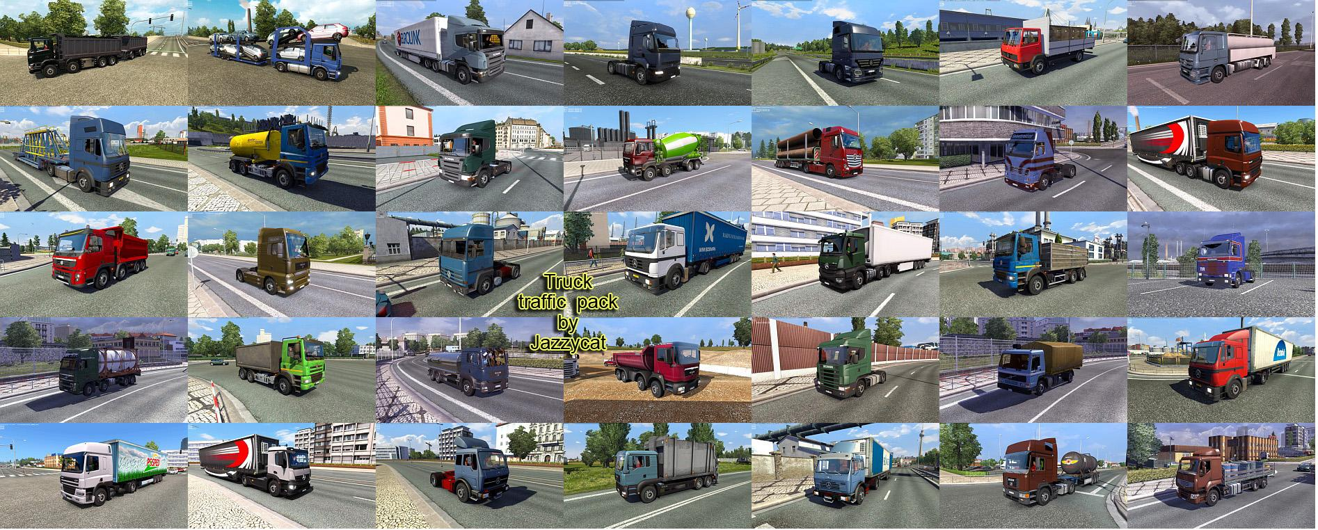 Truck Traffic Pack by Jazzycat v2 1 | ETS2 mods | Euro truck