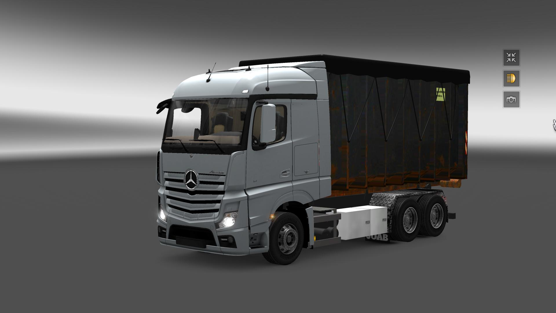 mercedes actros mp4 mega mod ets2 mods euro truck. Black Bedroom Furniture Sets. Home Design Ideas