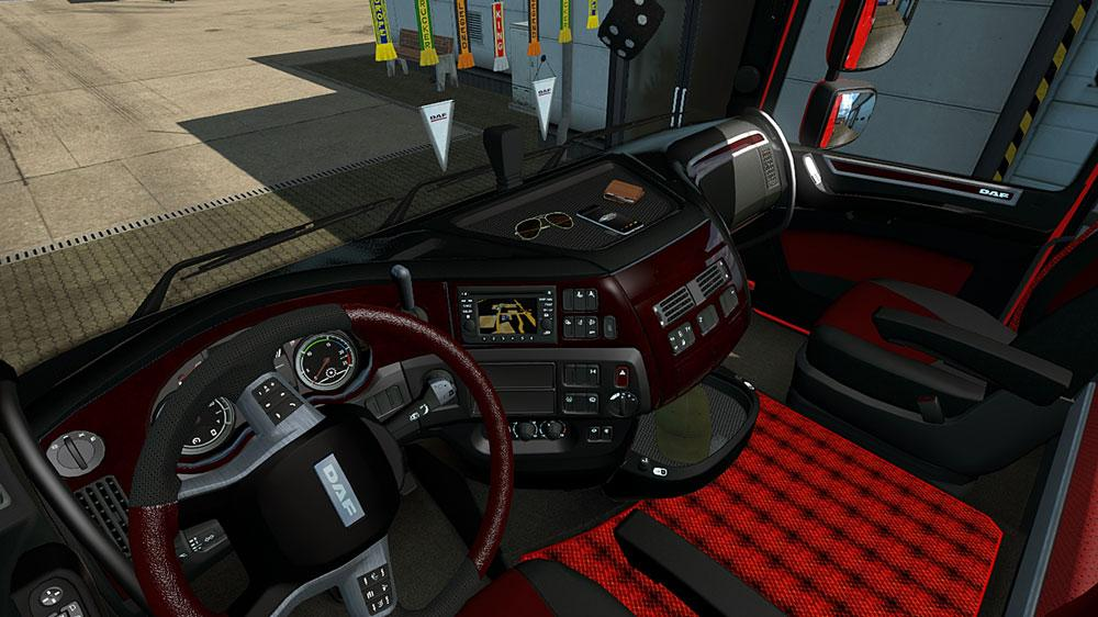DAF XF EURO 6 BLACK & RED INTERIOR | ETS2 mods | Euro truck