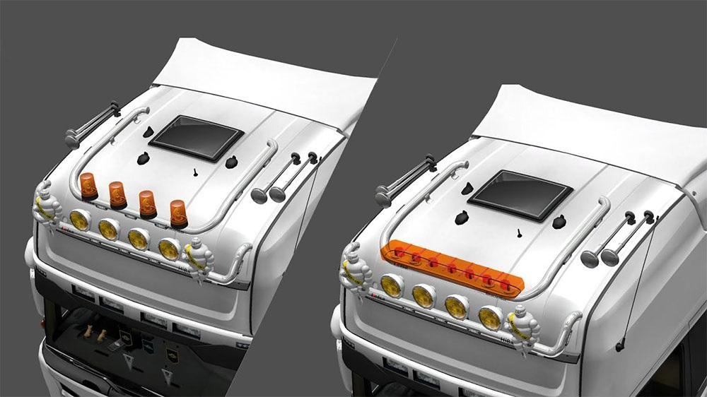 Trucks scania ets 2 mods part 12 - Kelsa Double Roofbar Ets 2 Mods Euro Truck Simulator 2