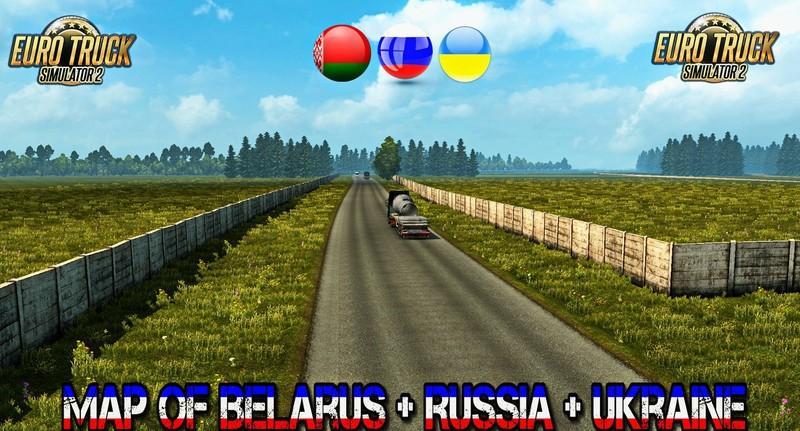 Map of Belarus v34 ETS2 mods Euro truck simulator 2 mods