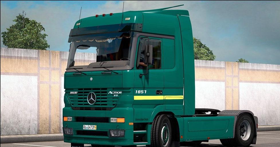 MERCEDES BENZ ACTROS MP1 V2.5 | ETS2 mods | Euro truck ...