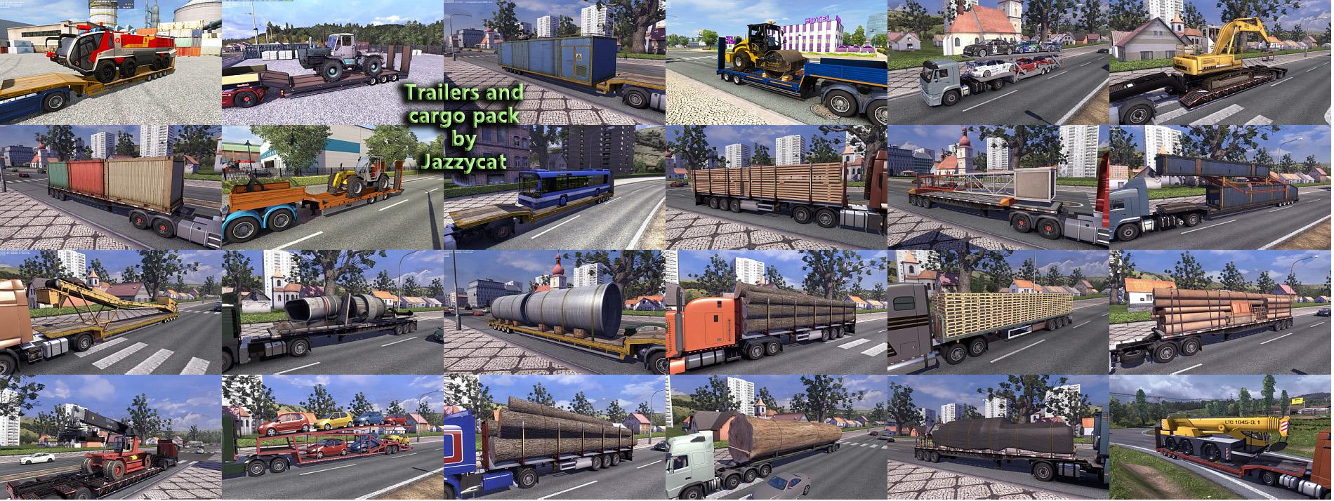 Trailers and Cargo Pack by Jazzycat v3 6 1 | ETS2 mods