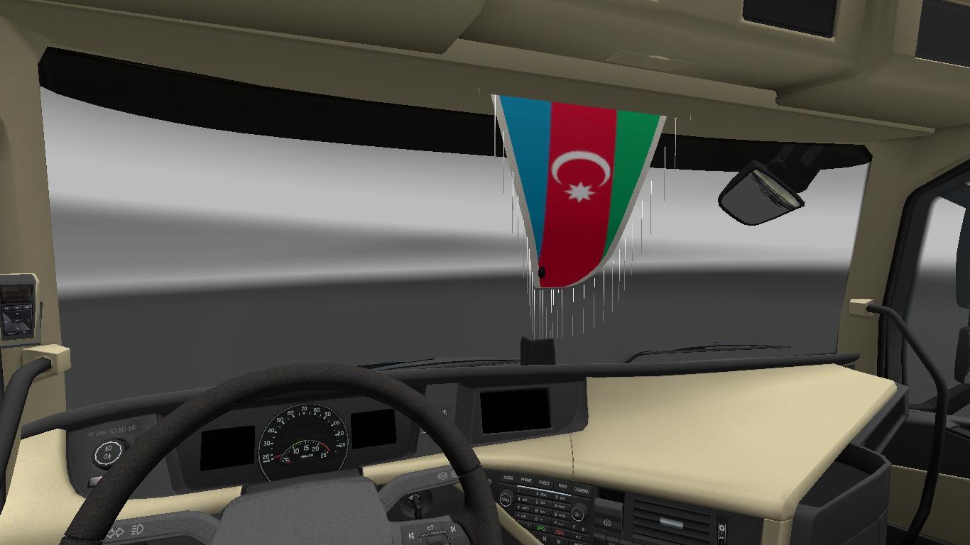 azerbaijani flag for salon ets 2 mods   euro truck