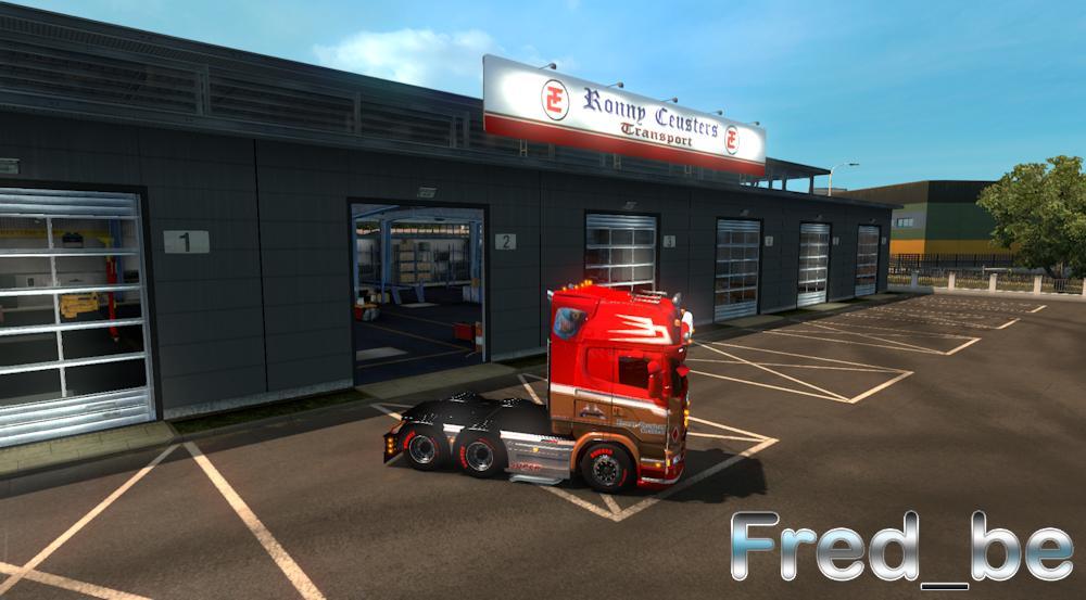 Big garage ronny ceusters ets 2 mods euro truck for Credit garage renault