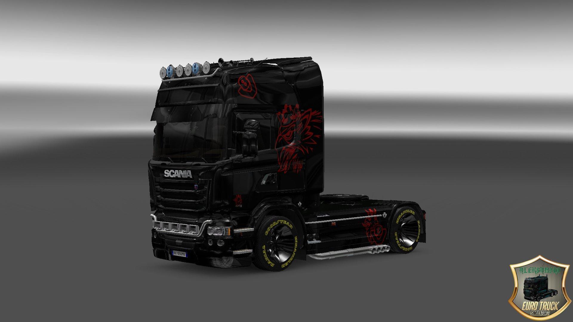 scania streamline black red skin 1 22 ets 2 mods   euro