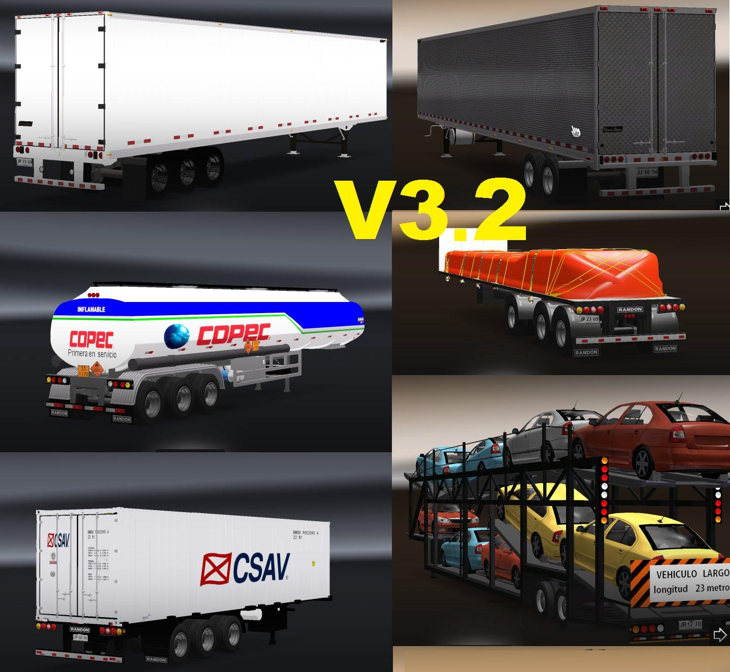 CHILEAN TRAILERS PACK V3 2 | ETS2 mods | Euro truck