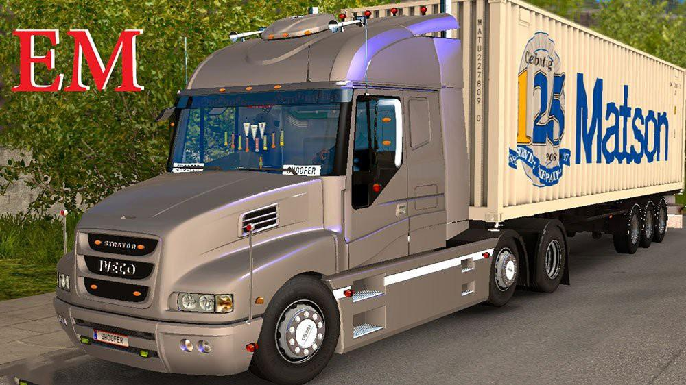Iveco strator and volvo fh 2013 tuning euro truck simulator 2 mods - Iveco Strator And Volvo Fh 2013 Tuning Ets 2 Mods Euro