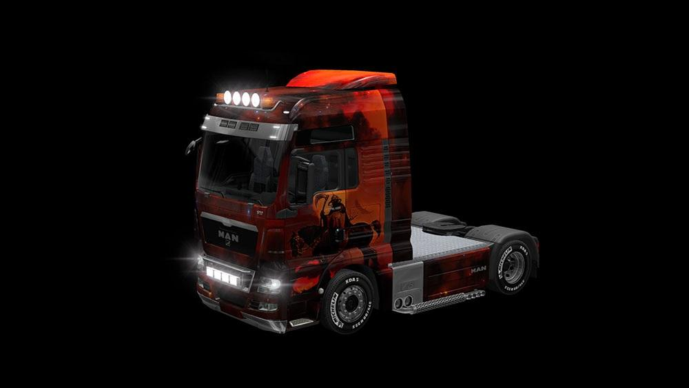 MAN TGX XXL FRAZETTA STYLE SKIN   ETS2 mods   Euro truck simulator 2