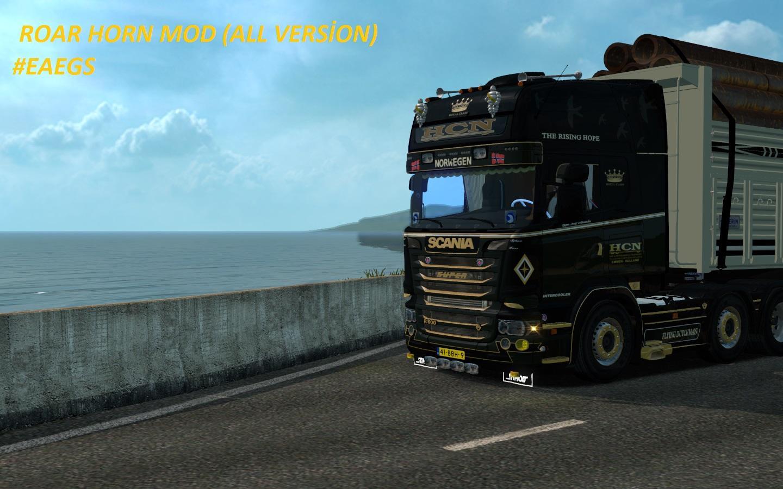 ROAR HORN MOD ALL VERSION | ETS2 mods | Euro truck simulator