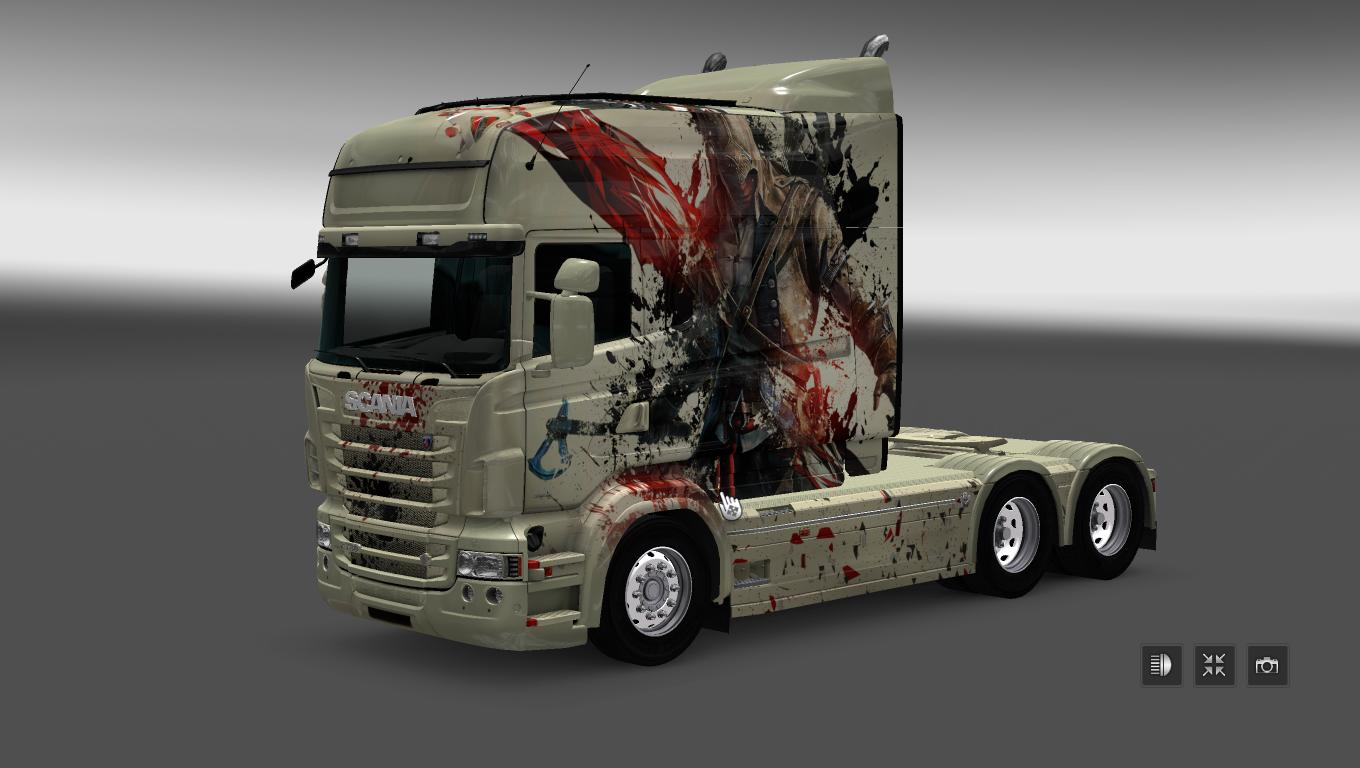 SCANIA RS RJL LONGLINE ASSASSINS CREED SKIN | ETS2 mods