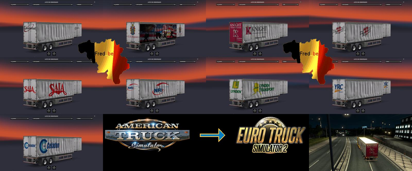TRAILER PACK CURTAIN ATS FOR ETS2 1 22 X | ETS2 mods | Euro