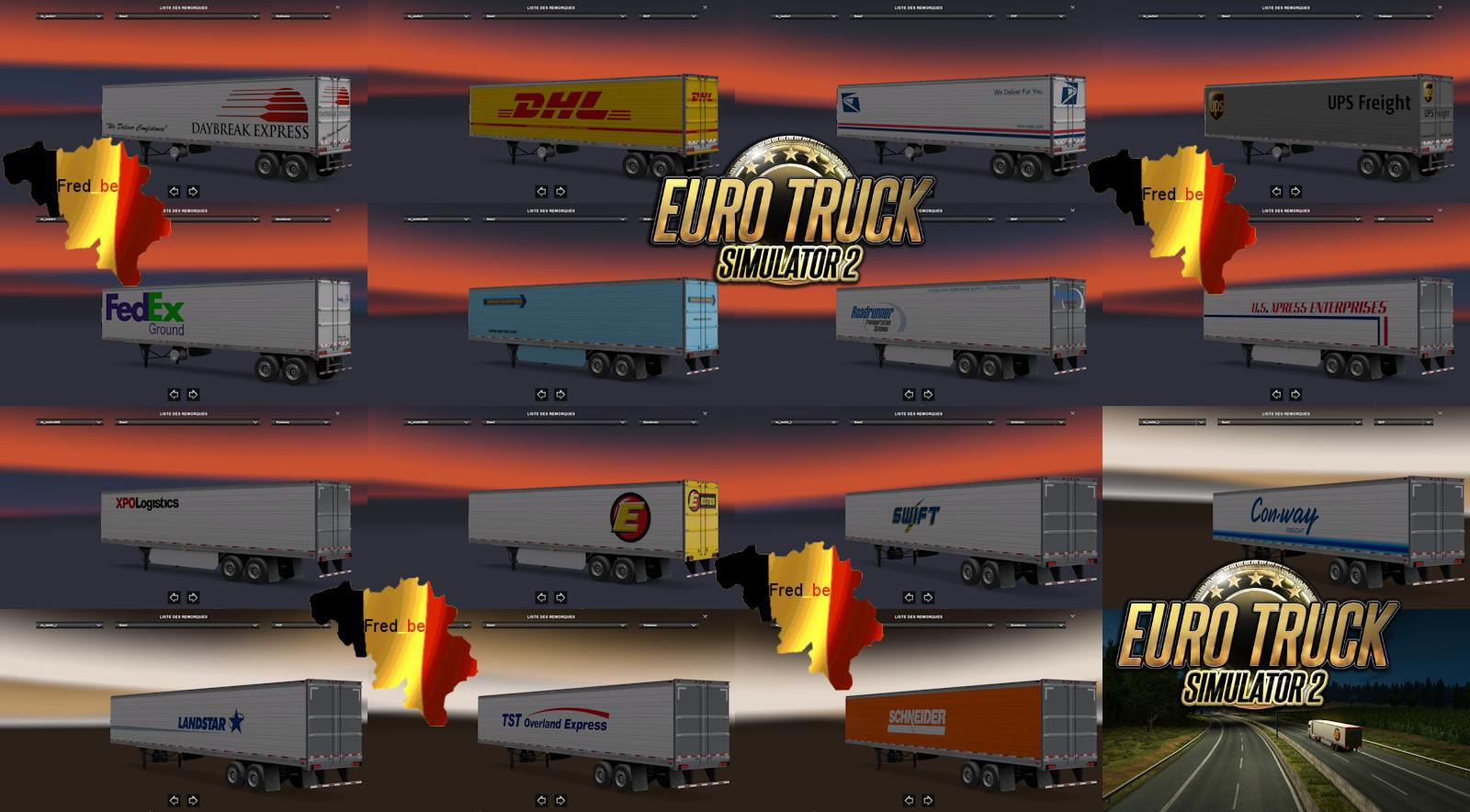 TRAILERS PACK REEFER ATS FOR ETS2 (STANDALONE) 1 22 X | ETS2