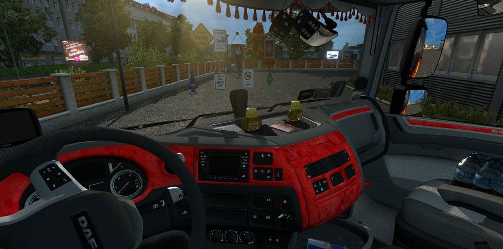 DAF XF EURO 6 RED INTERIOR | ETS2 mods | Euro truck simulator 2 mods ...