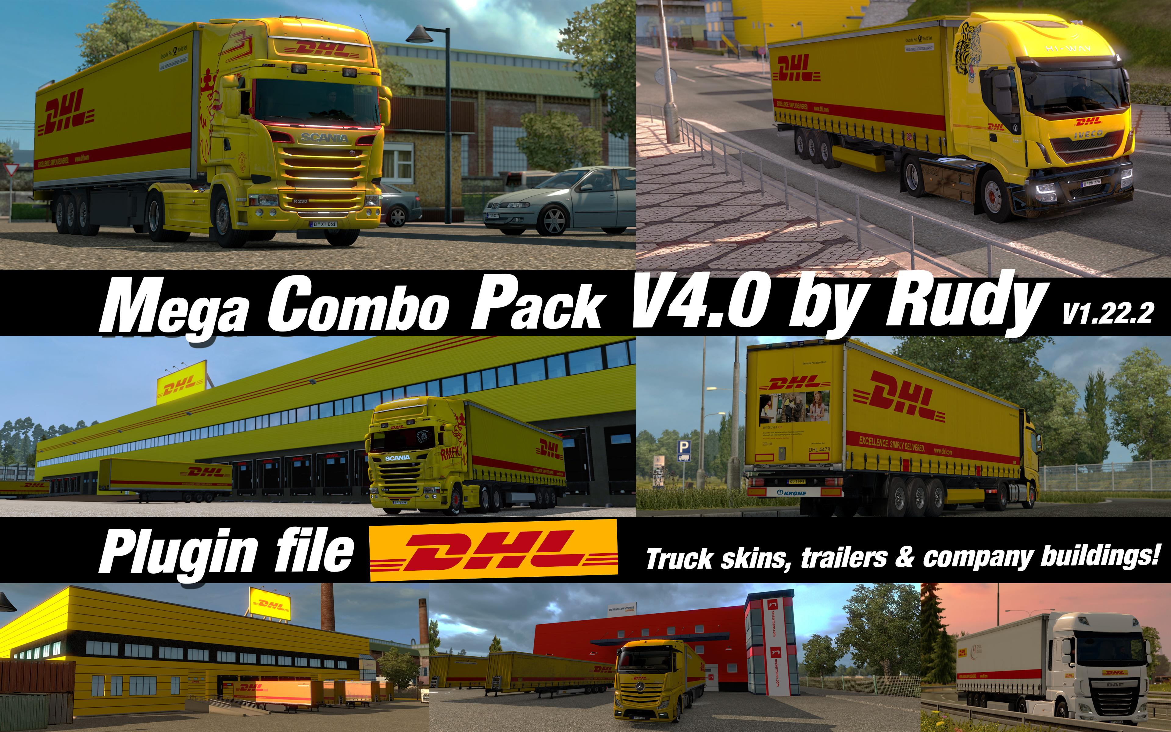 MCP V4.0 DHL PLUGIN | ETS2 mods | Euro truck simulator 2