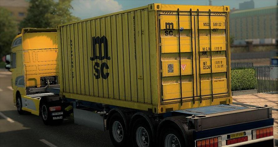 MSC CONTAINER TRAILER | ETS2 mods | Euro truck simulator 2 mods