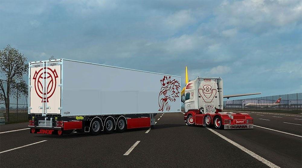 scania truck and chereau trailer accessory ets 2 mods