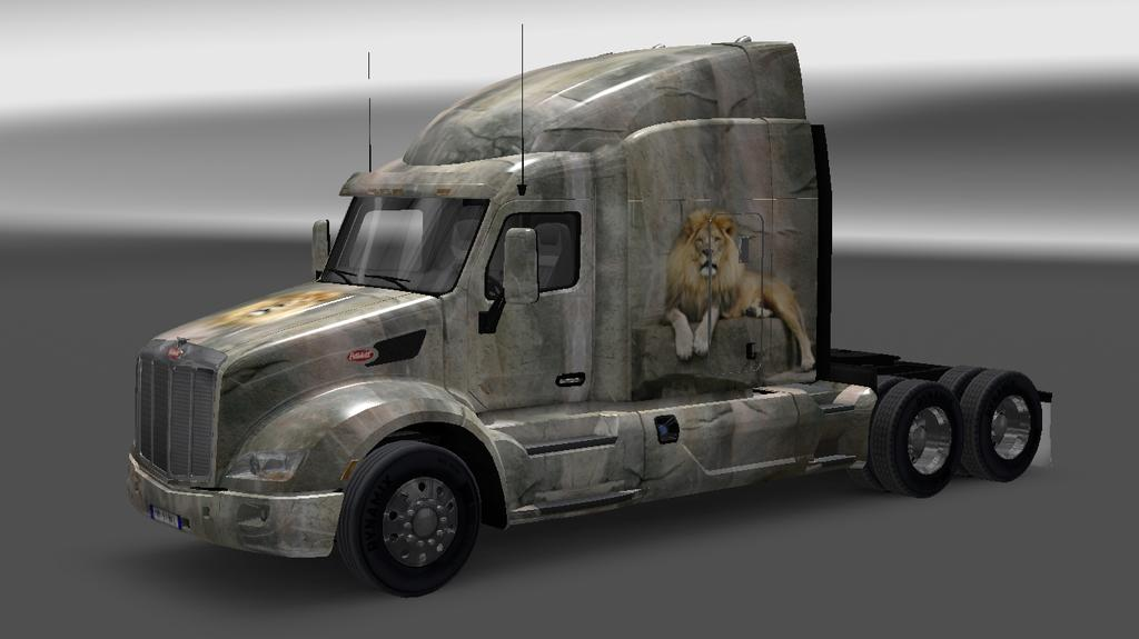 Iveco strator and volvo fh 2013 tuning euro truck simulator 2 mods - Skin Leo For Peterbilt 579 1 22 X Ets 2 Mods Euro