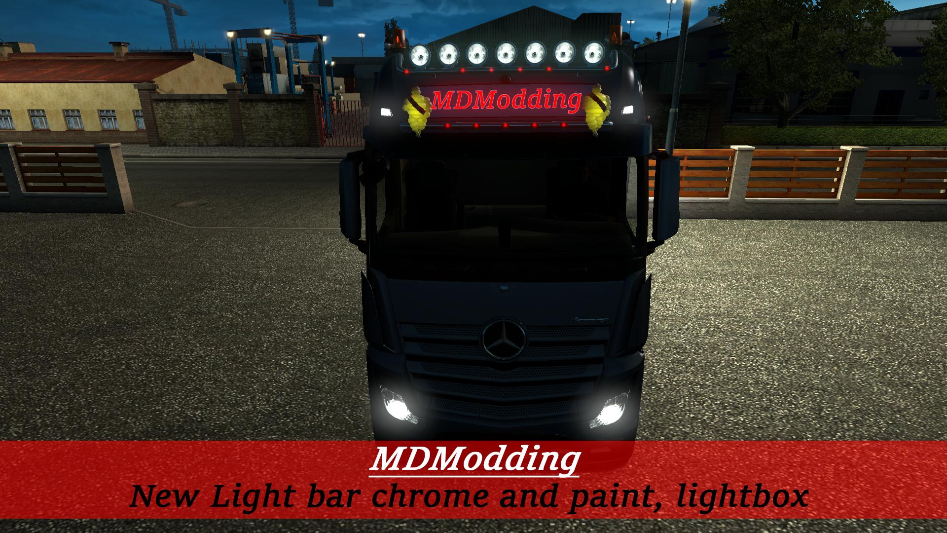 Light Bar And Lightbox V2 Ets2 Mods Euro Truck